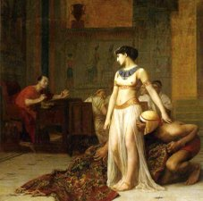 Jean-Léon-Gérôme: Cleopatra and Caesar (Public domain, https://commons.wikimedia.org)